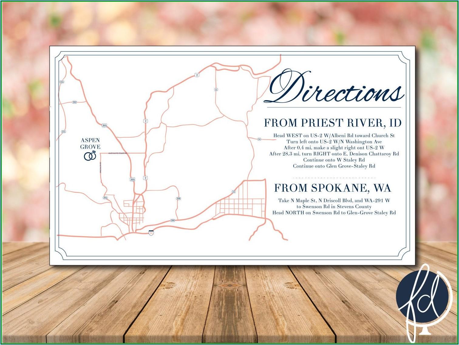 Map Design Wedding Invitation