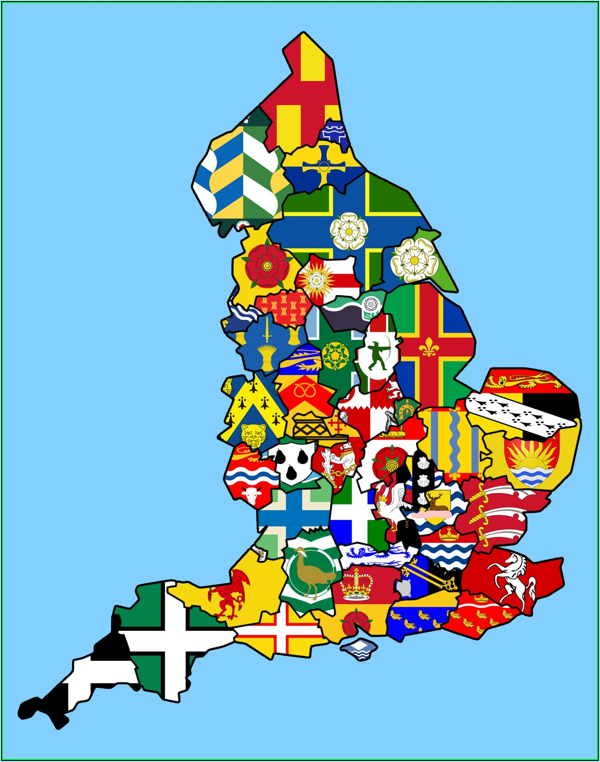 Map Of British Isles Counties