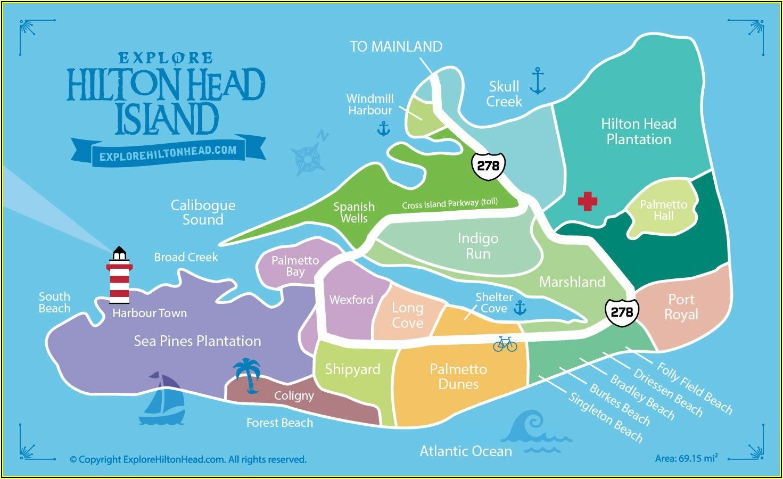 Map Of Hilton Head Island Beaches