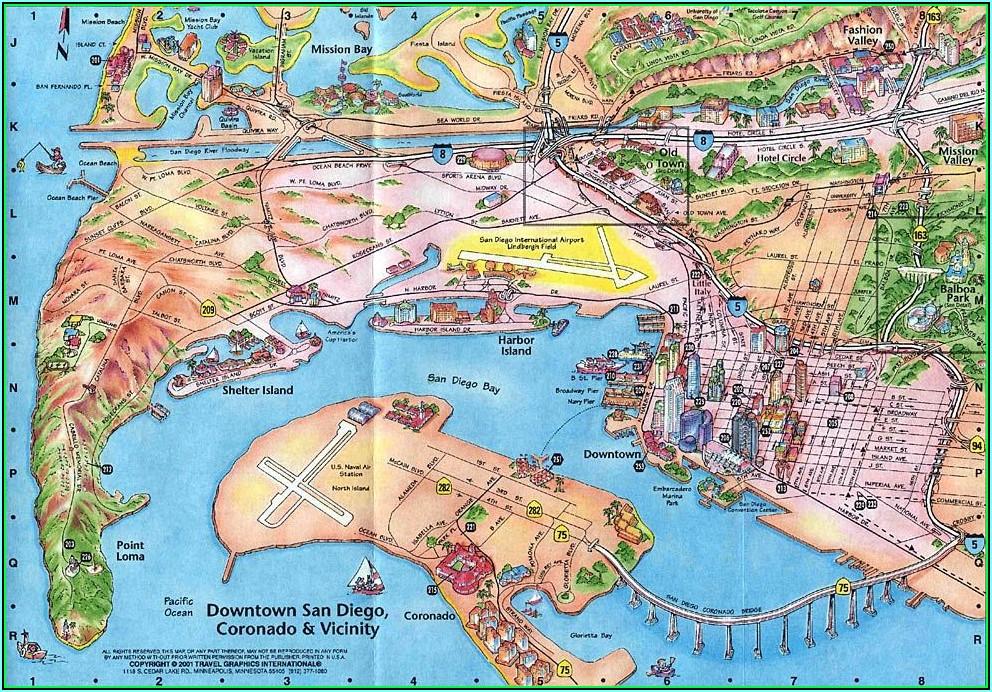 Map Of Hotel Circle San Diego California