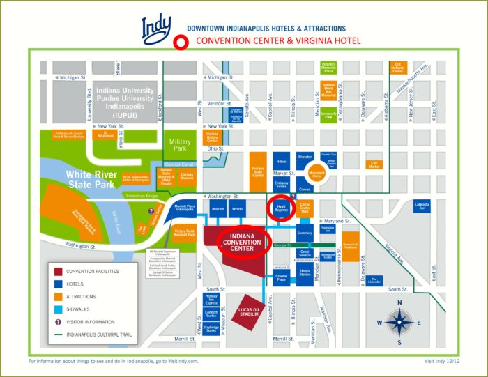 Map Of Hotels In Downtown Indy