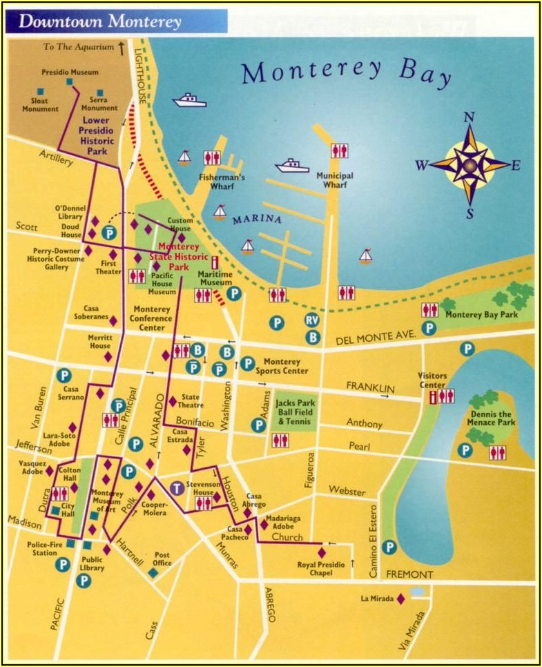 Map Of Hotels In Monterey Ca