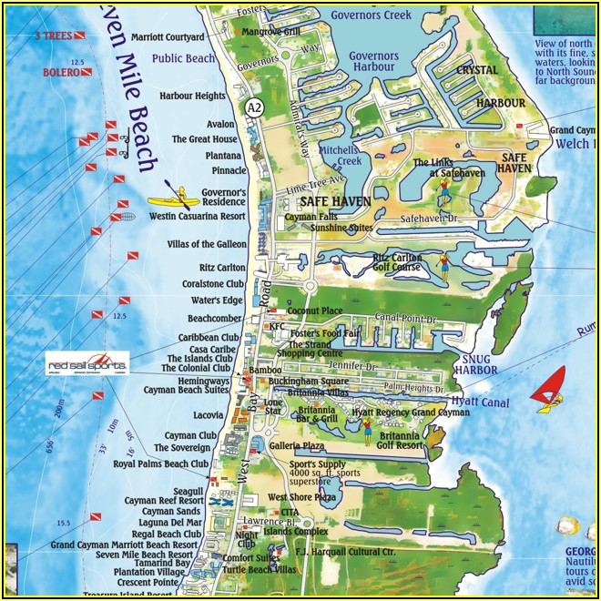 Map Of Hotels In Negril On 7 Mile Beach