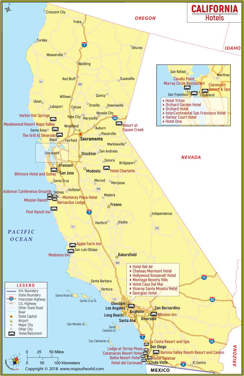 Map Of Hotels In Santa Monica California