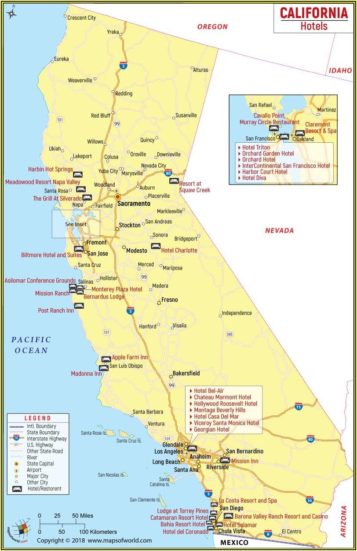 Map Of Hotels Near Monterey Bay Aquarium