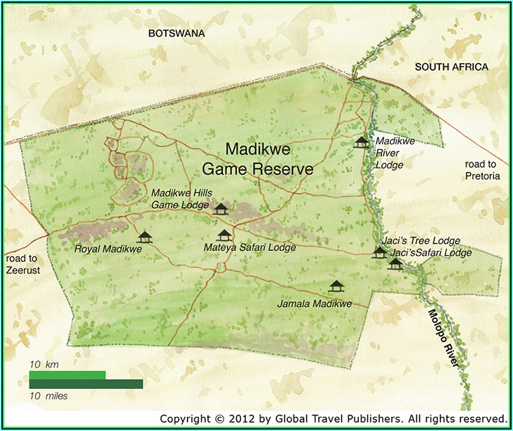 Map Of Lodges In Madikwe Game Reserve