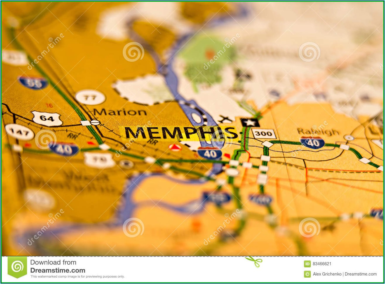 Map Of Memphis Tn