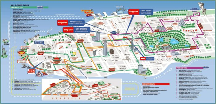 Map Of New York City Attractions Printable