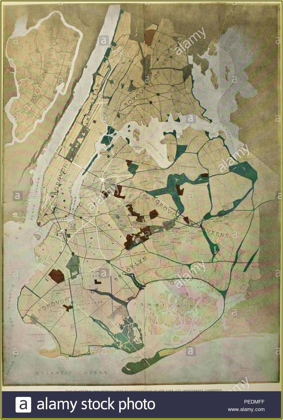 Map Of New York City Boroughs And Neighborhoods