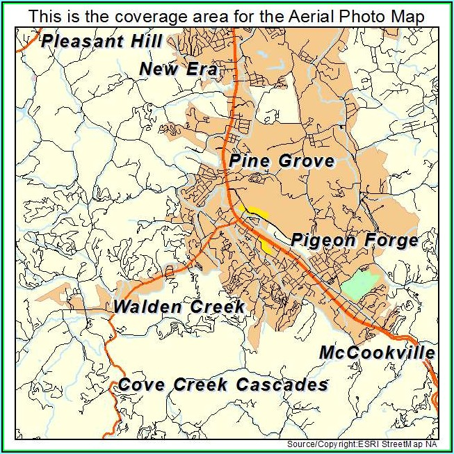 Map Of Pigeon Forge Tn
