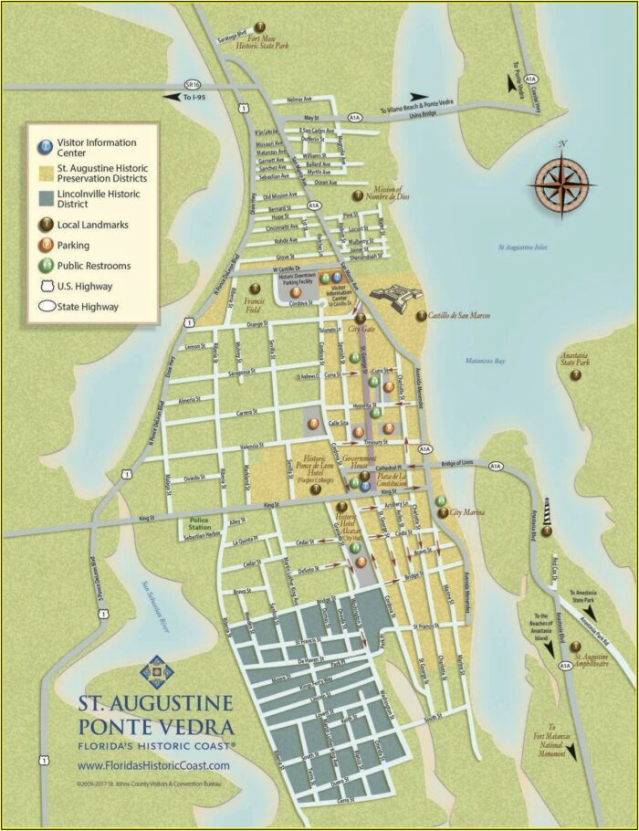 Map Of St. Augustine Historic District Hotels