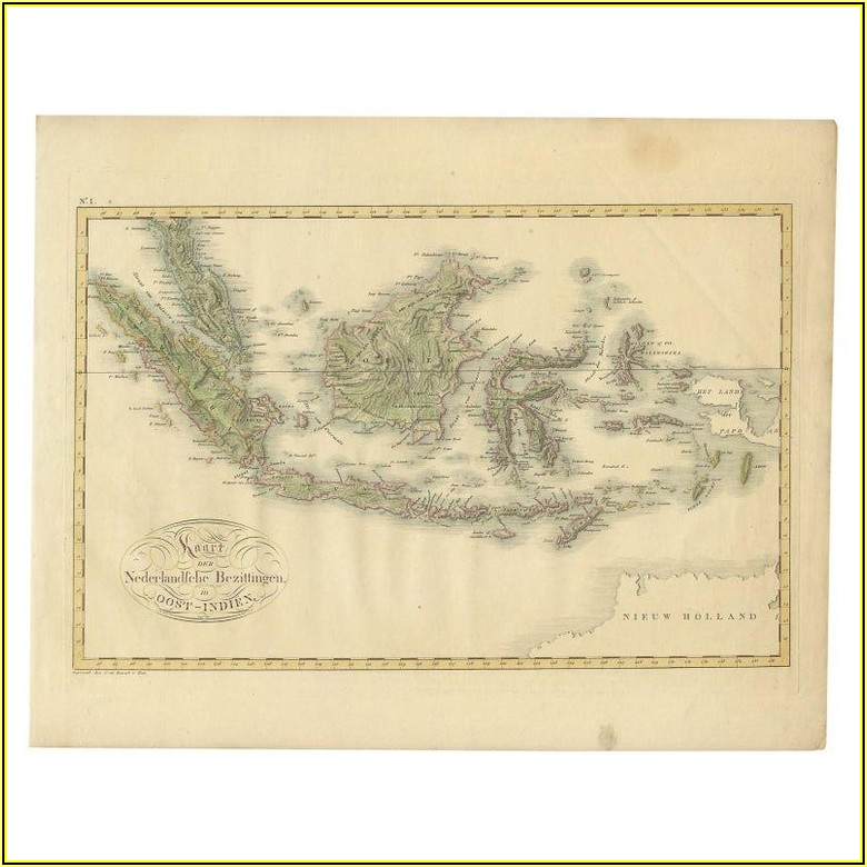 Map Of The Dutch East Indies