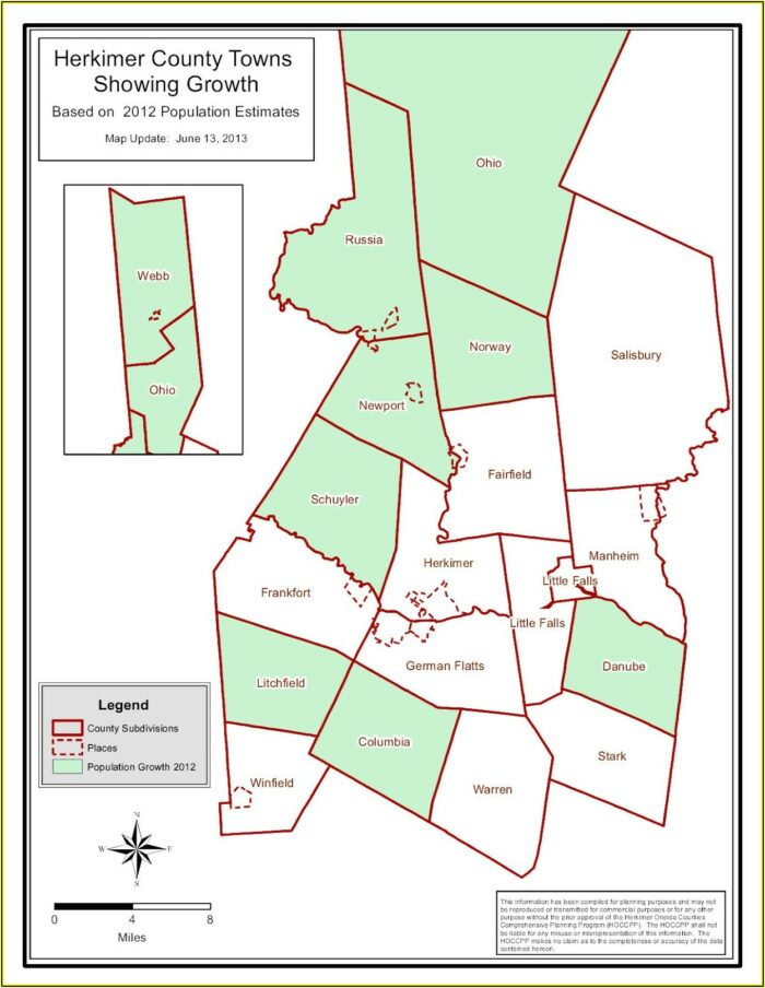 Map Of Towns In Herkimer County Ny