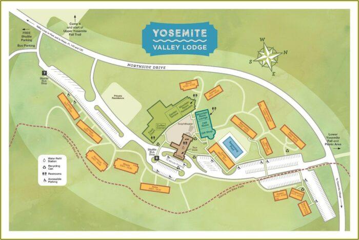 Map Of Yosemite Hotels