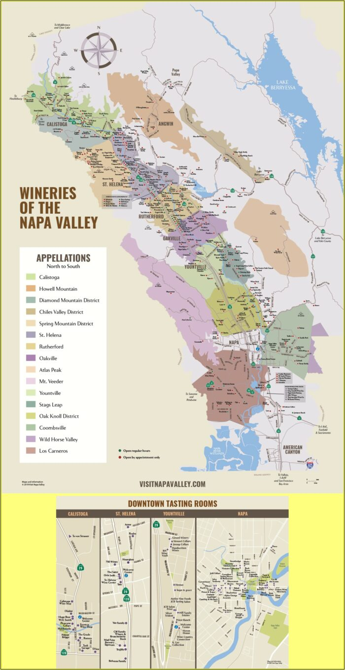 Maps Of Napa Valley Wineries