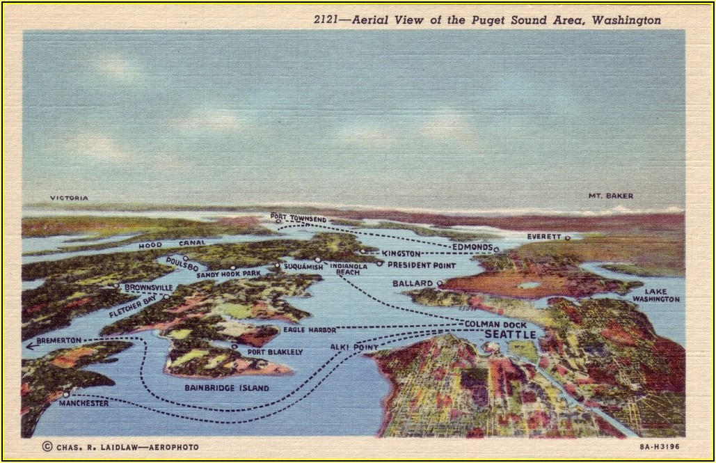Maps Of Puget Sound Area