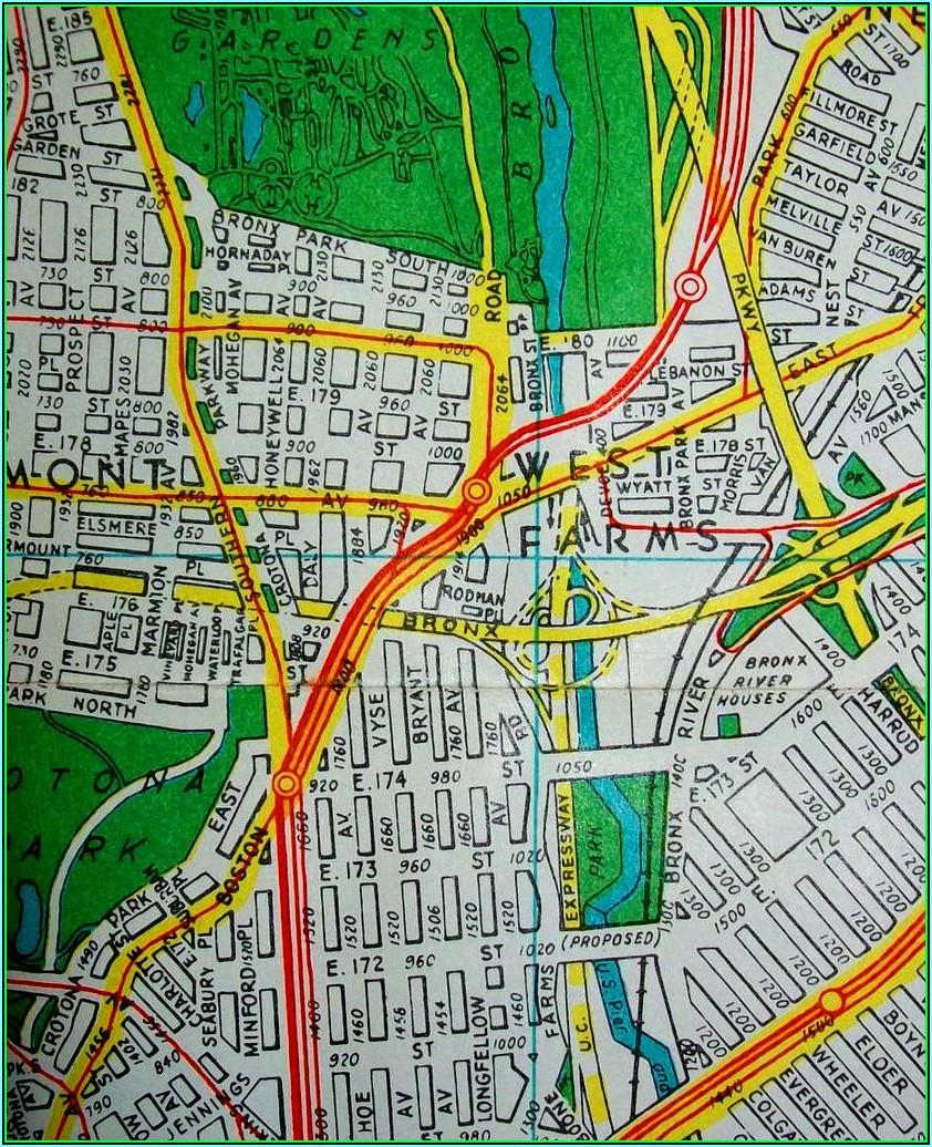 Maps Of The Bronx Ny