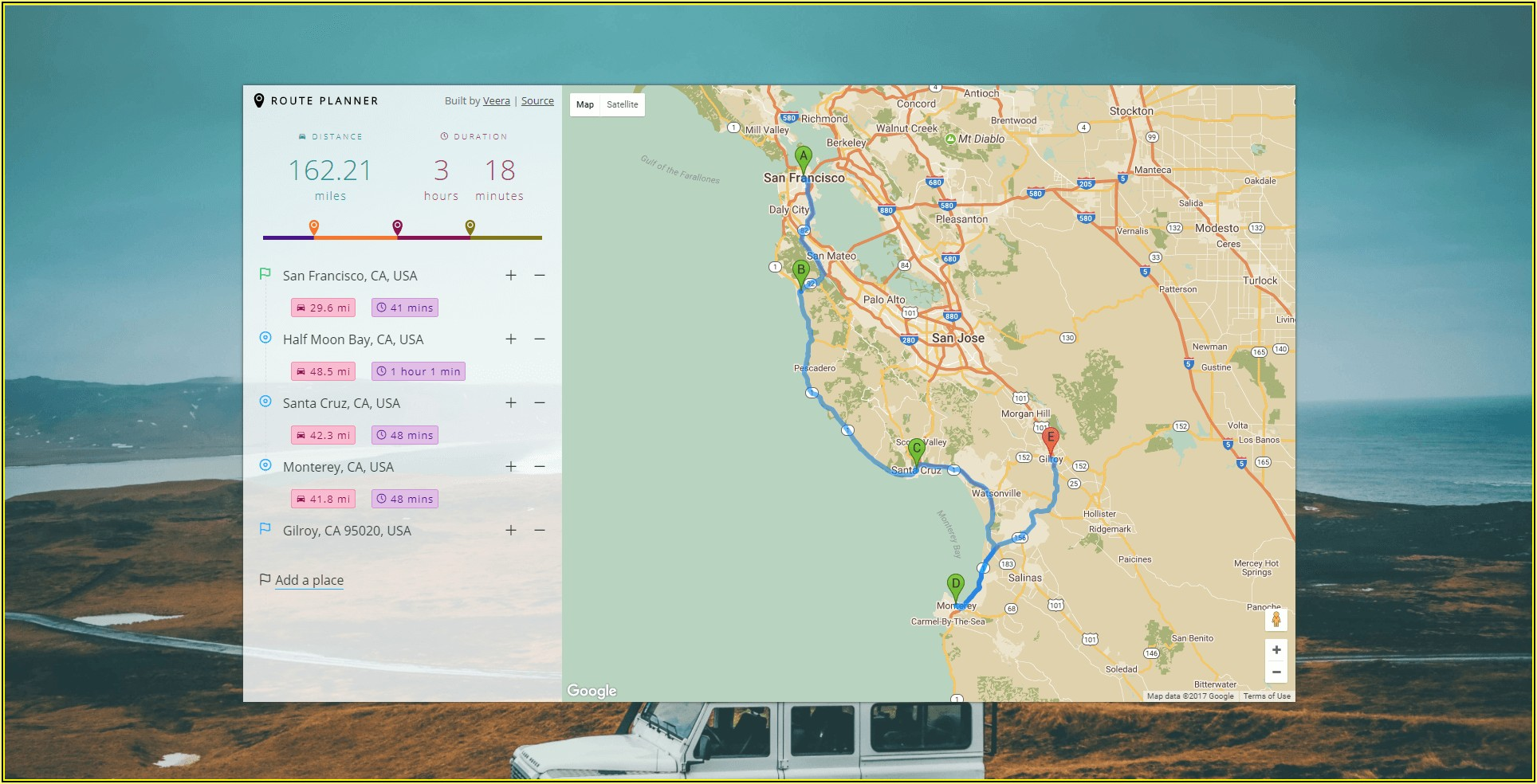 Maps Route Planner