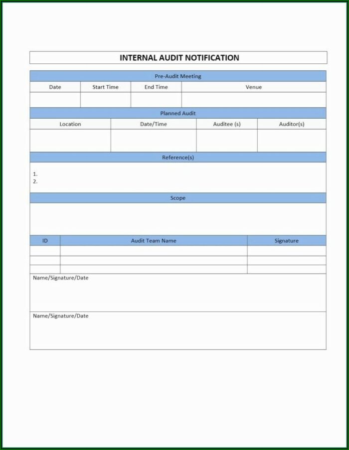 Medical Record Audit Form Templates