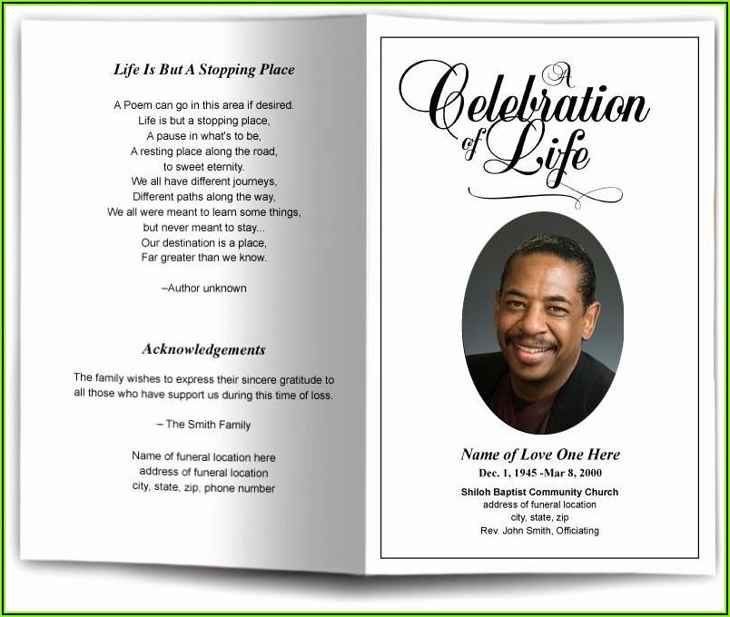 Memorial Funeral Card Templates Free