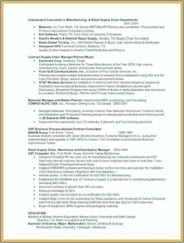Military Veteran Resume Template