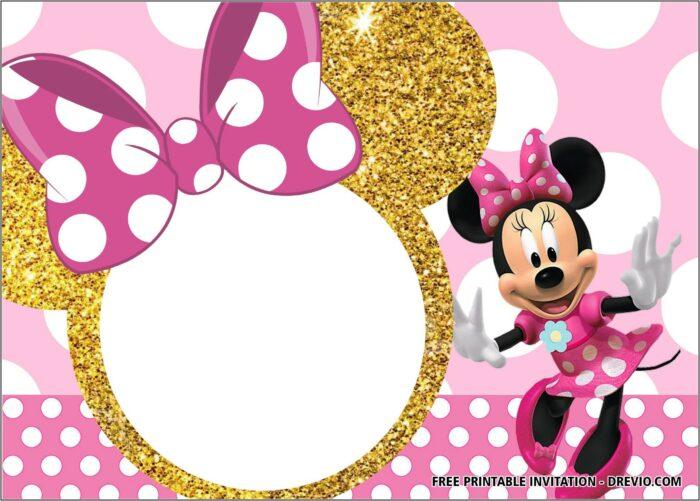 Minnie Birthday Invitation Template