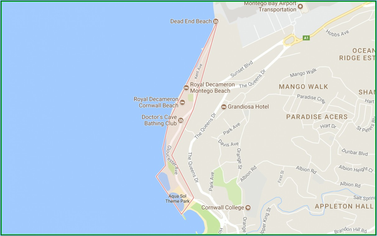 Montego Bay Hotel Zone Map