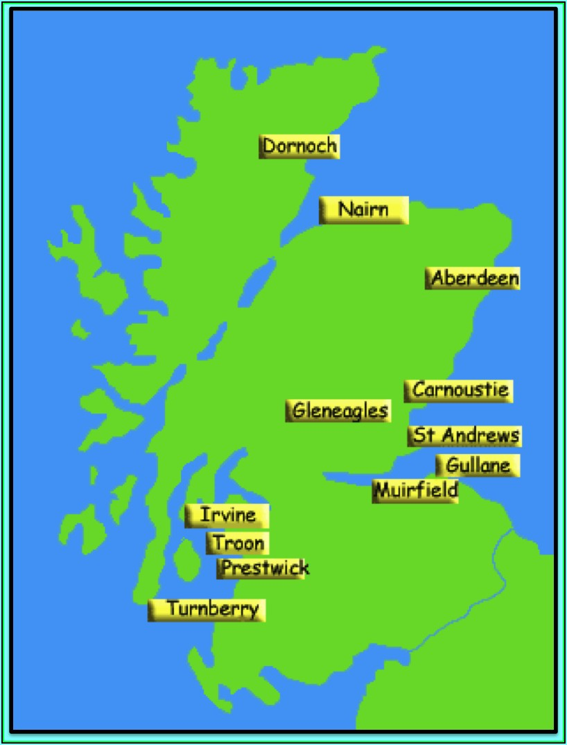 Muirfield Golf Course Scotland Map