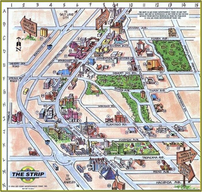 Myrtle Beach Hotels Strip Map