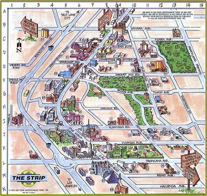 Myrtle Beach Hotels Strip Map