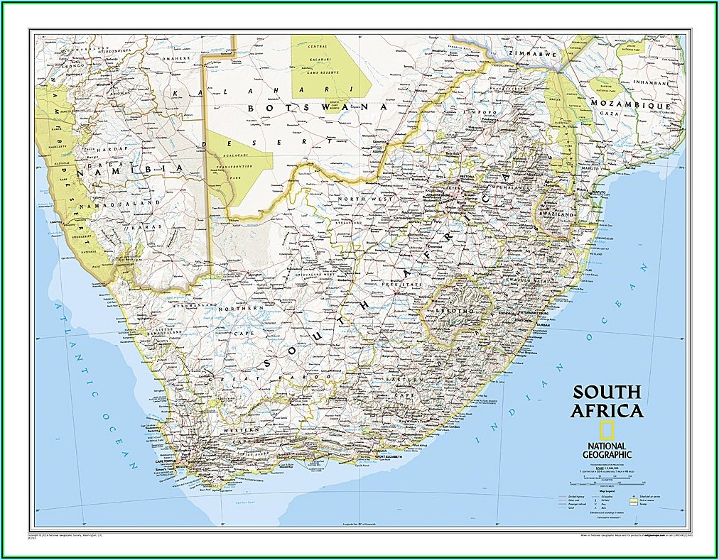 National Geographic Map South Africa