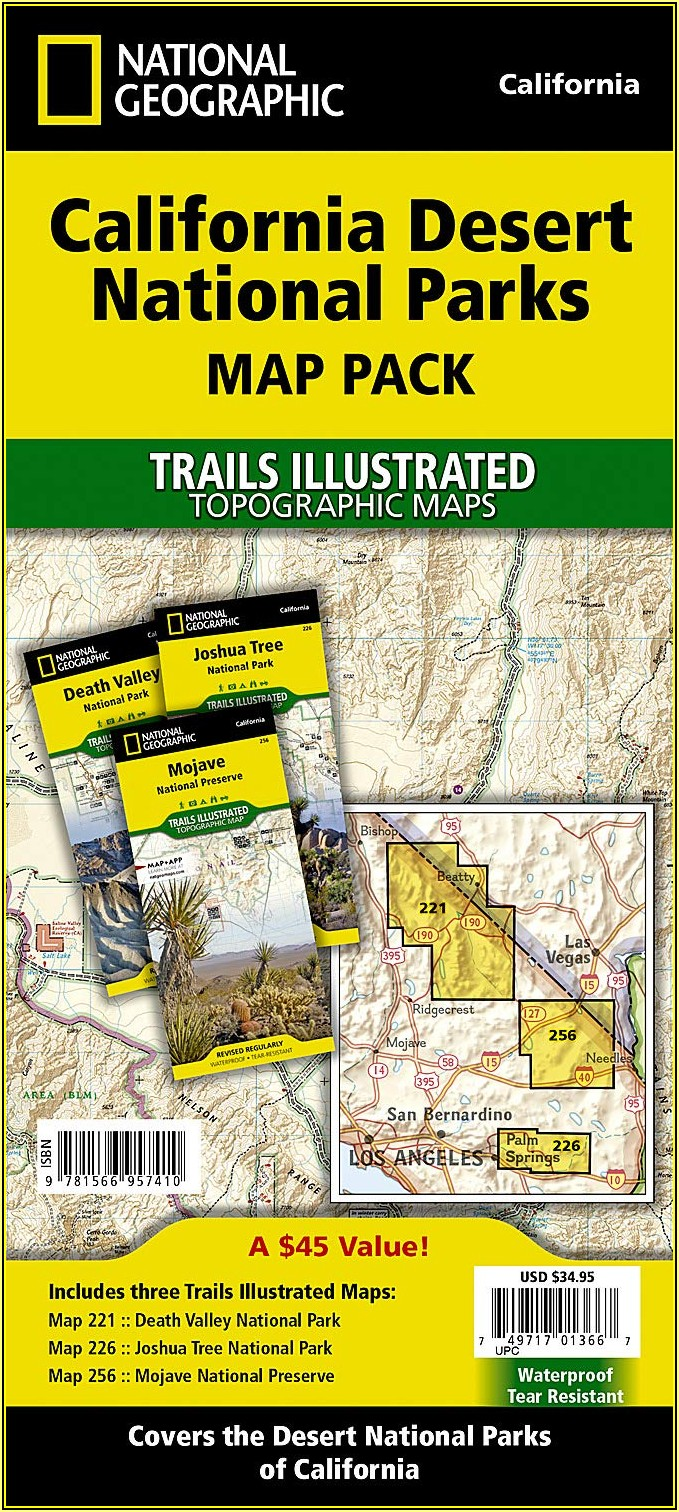 National Geographic Trails Illustrated Maps California