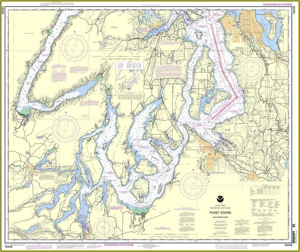 Nautical Maps Of Puget Sound
