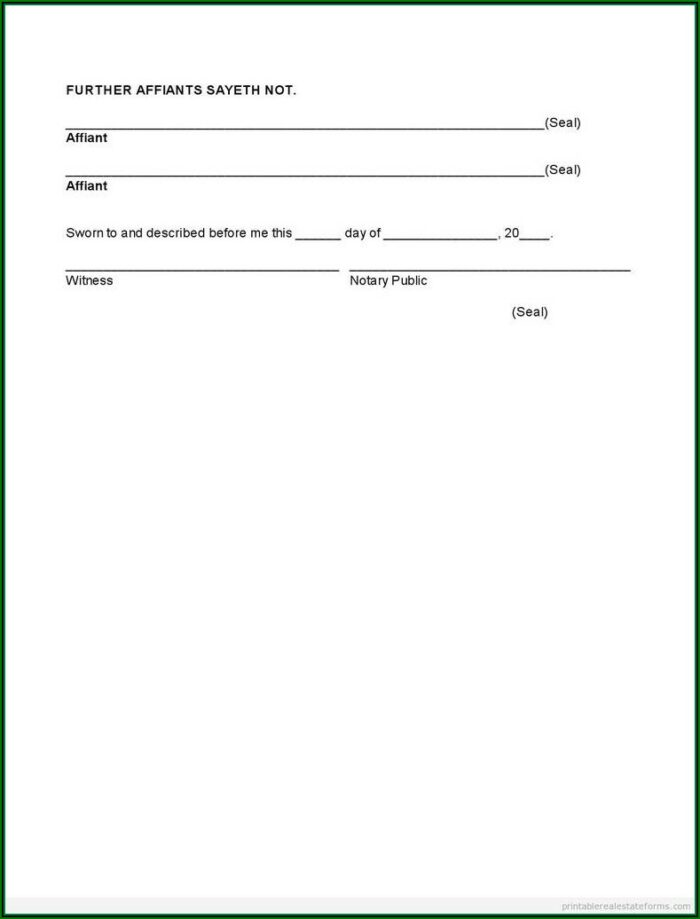 Notary Acknowledgement Forms