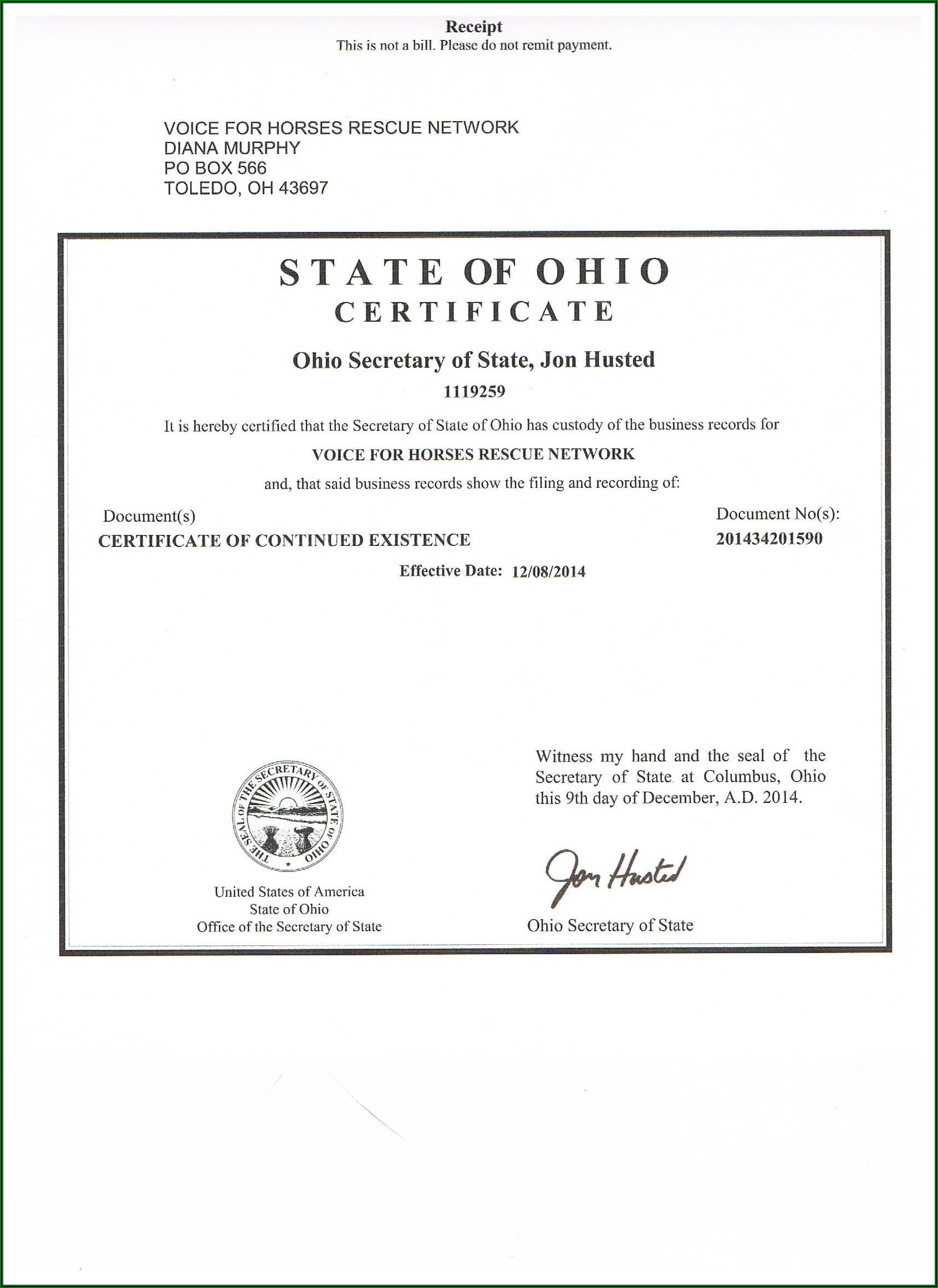 Ohio.gov Tax Exempt Form