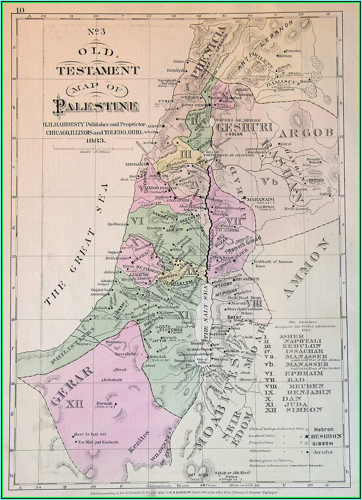 Old Testament Map Of Palestine