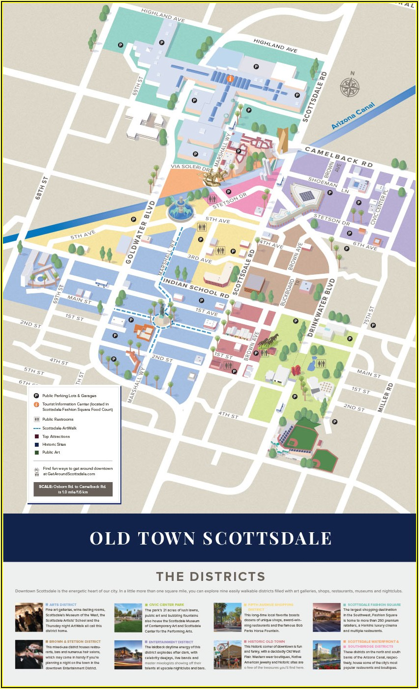 Old Town Scottsdale Hotel Map