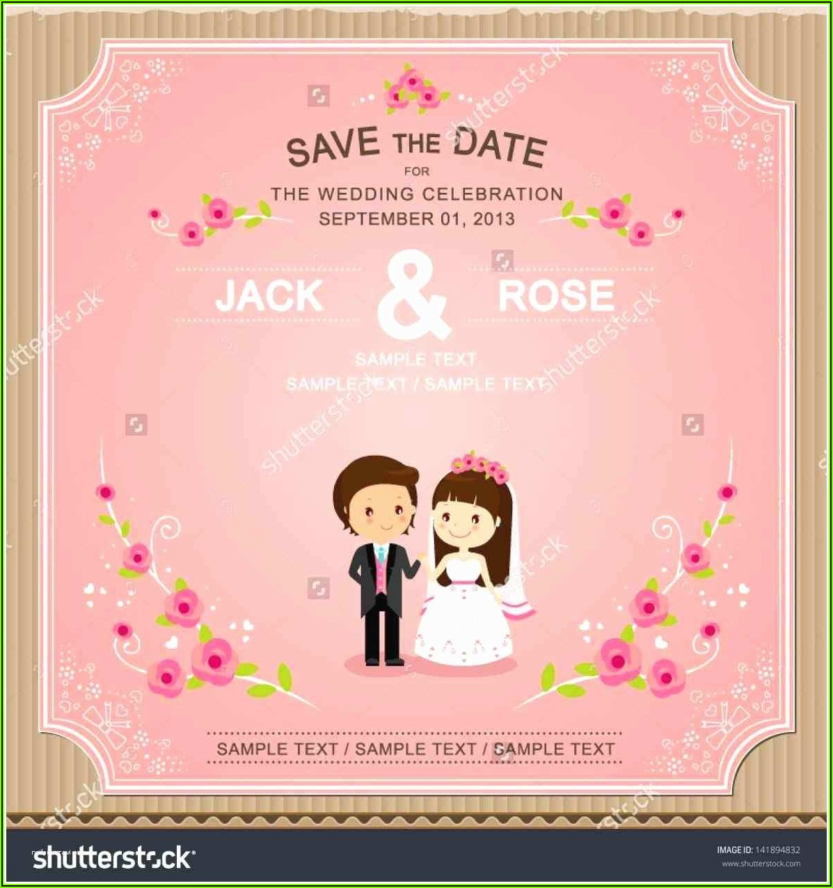 Online Editable Wedding Invitation Templates Free Download