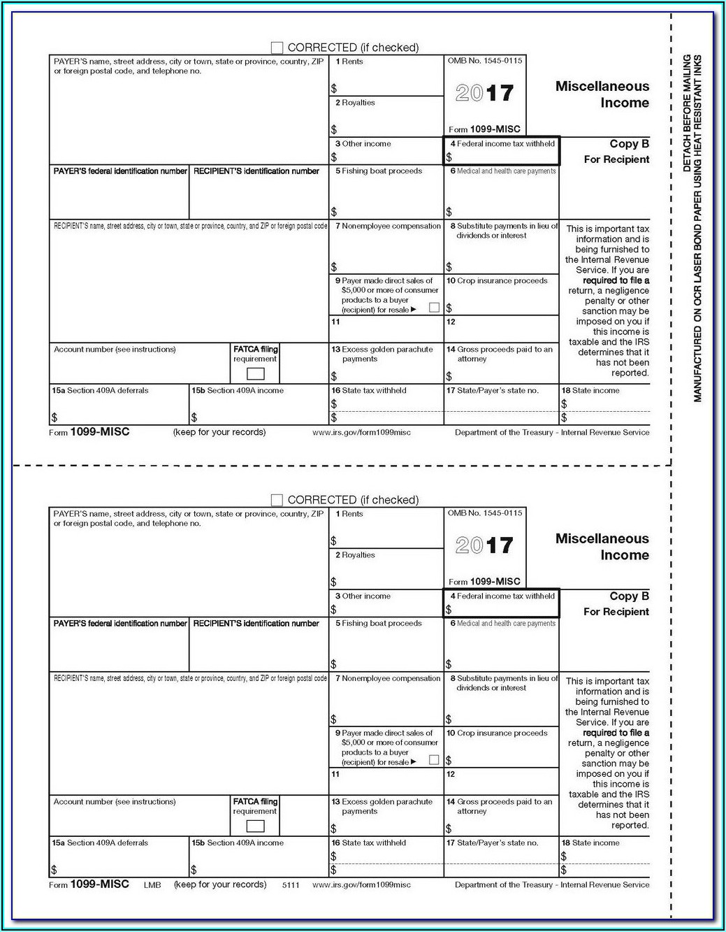 Order Form 1099 Misc From Irs