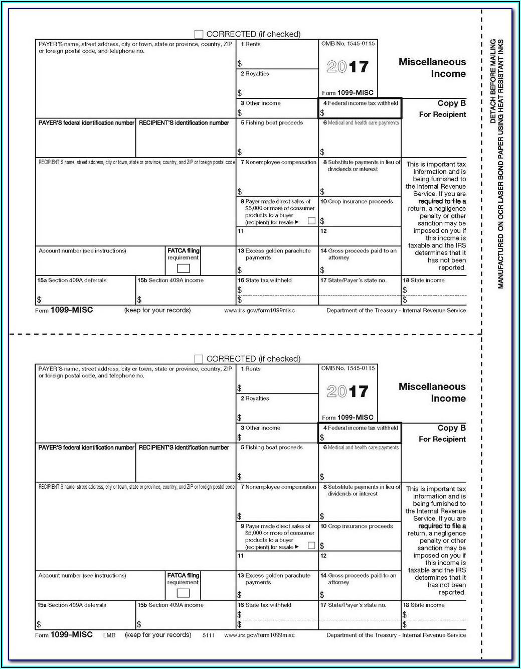 Order Form 1099 Misc