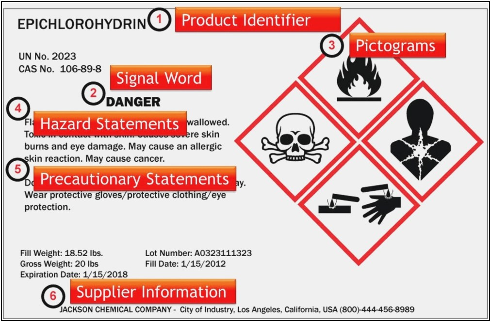 Osha Ghs Label Template