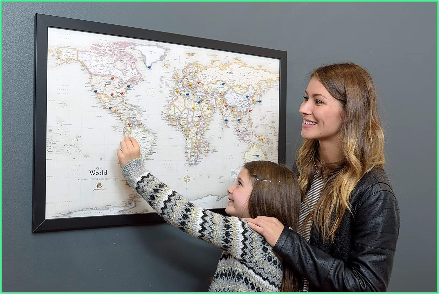 Personalized World Travel Map Magnetic