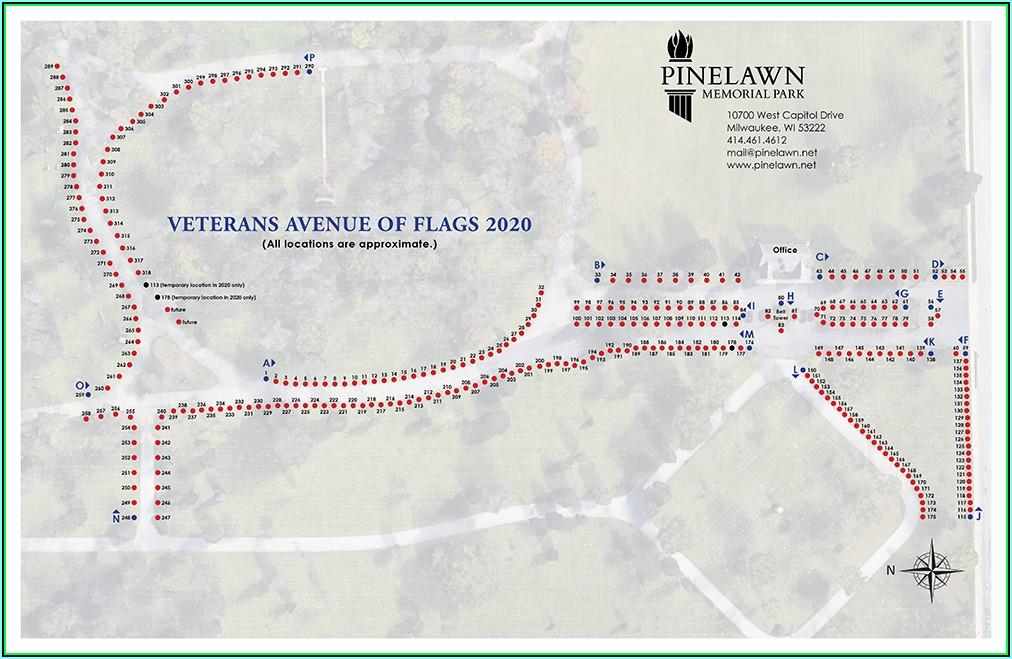 Pinelawn Cemetery Plot Map