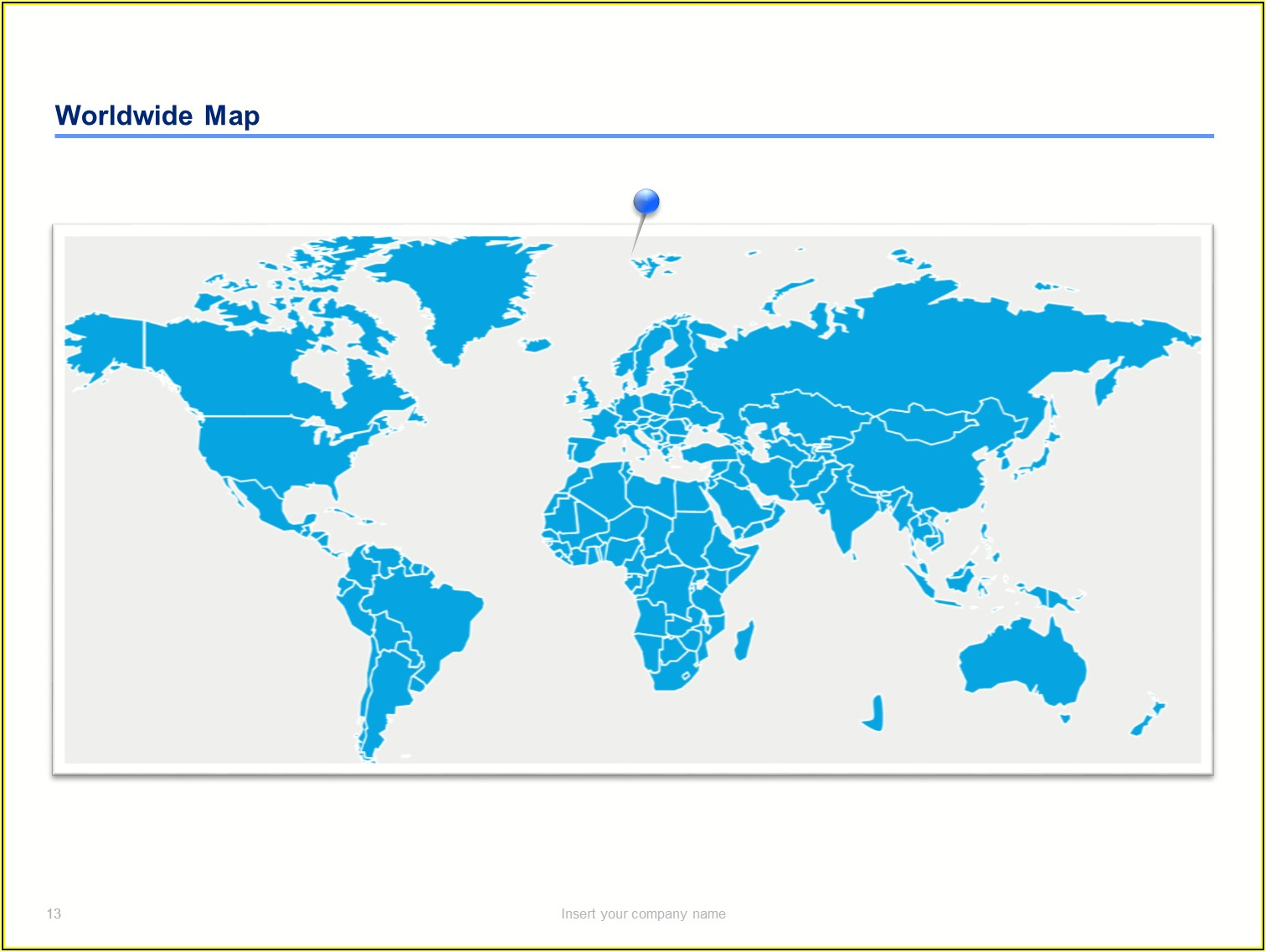 Powerpoint Editable Maps Of The World