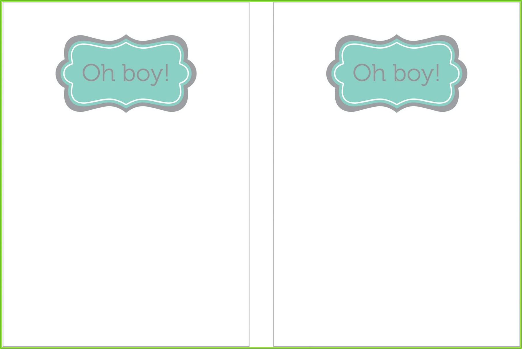 Printable Baby Boy Shower Invitations Template