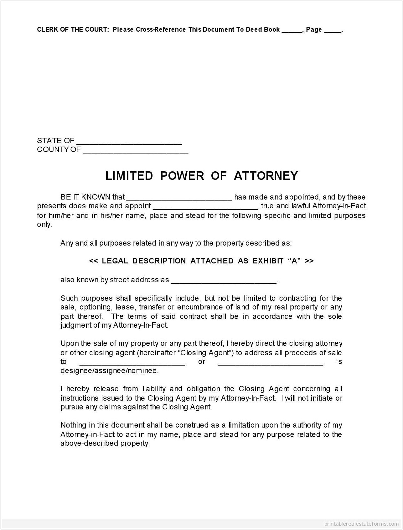 Printable Power Of Attorney Resignation Letter Template