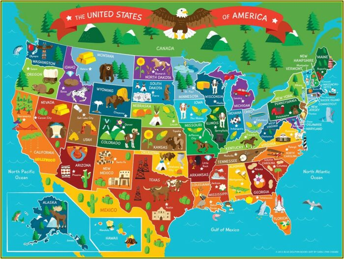 Printable Us State Map Puzzle