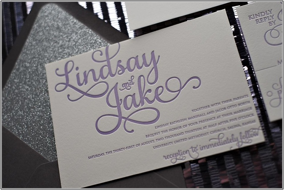 Purple And Silver Wedding Invitation Templates