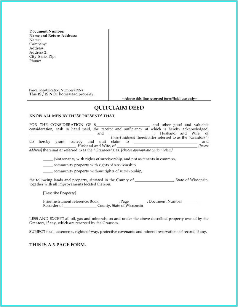 Quitclaim Deed Michigan Form