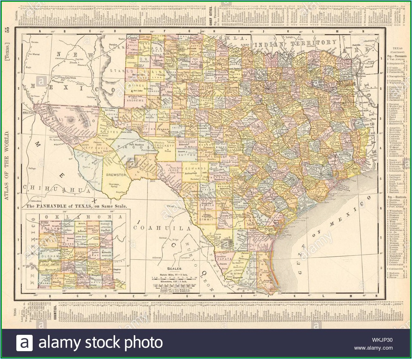 Rand Mcnally Texas State Map